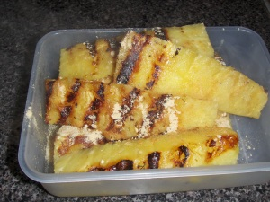 Grilled pinapple with ginger...yummm!